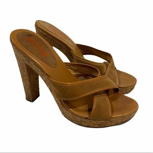 Michael Kors cork heeled sandals